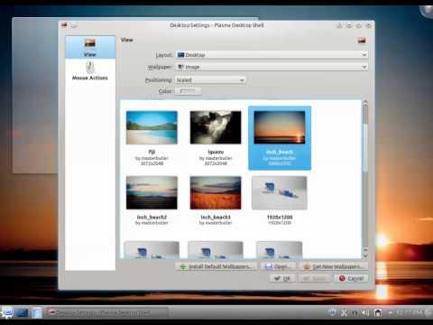 promena pozadine u Linux Mint 13 KDE.mp4