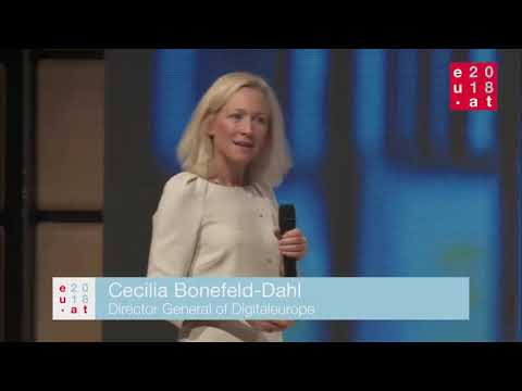 Watch a video called 'Cecilia Bonefeld-Dahl's keynote speech - High Level Conference on Digital and eGovernment'