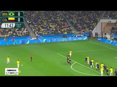 Brazil vs Colombia RIO 2016 Olympics All Goals and Highlights