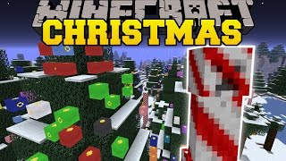 Minecraft: CHRISTMAS FESTIVITIES MOD (CHRISTMAS DIMENSION, DECORATIONS,&FOOD!) Mod Showcase