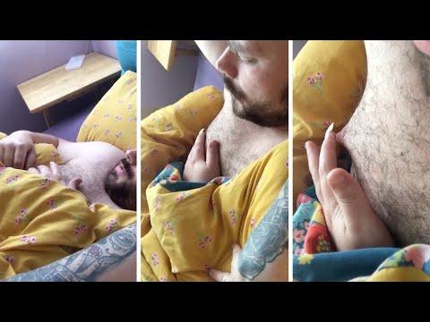 Vaimo liimaa nukkuvan ukkonsa sormen kiinni nänniin