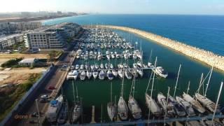 Herzliya Israel  city photos gallery : Herzliya Marina israel drone 4k