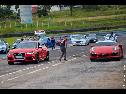 porsche 911 turbo s vs audi rs6 avant - drag race