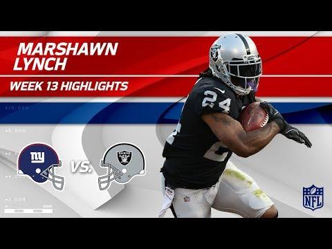Video: Marshawn Lynch Lights Up NY w/ 121 Total Yds & 1 TD! | Giants vs. Raiders | Wk 13 Player Highlights