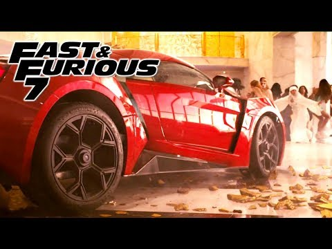Building Jump Scene - FAST and FURIOUS 7 (Lykan Hypersport) 1080p