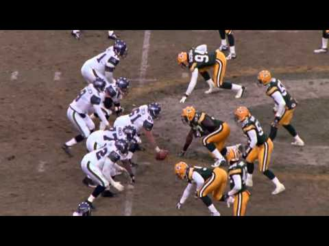 Al Harris interception return vs Seahawks, wild card game 2003