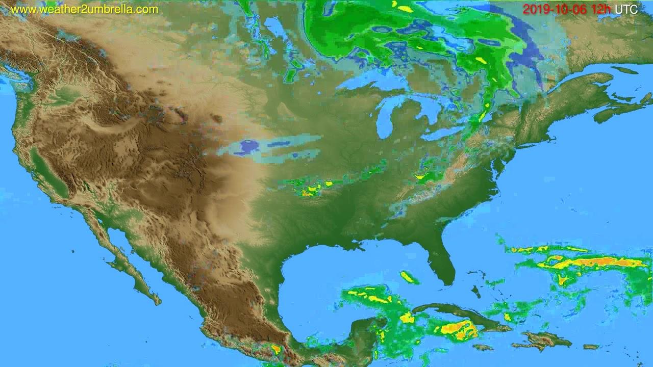 Radar forecast USA & Canada // modelrun: 00h UTC 2019-10-06