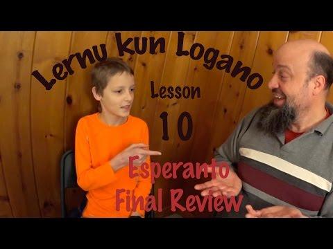 Esperanto video course - Lernu kun Logano - Lesson 10