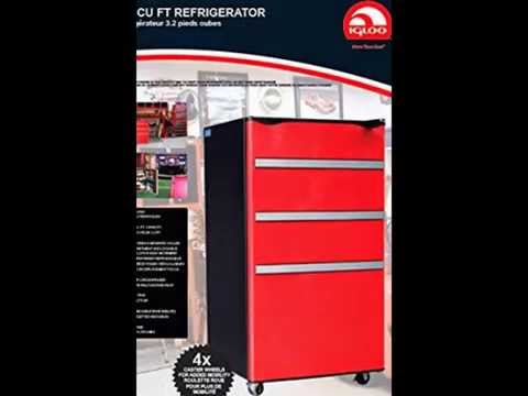 Igloo FR329-Red Garage Fridge Tool Box, 3.2 Cubic Feet, Red Review
