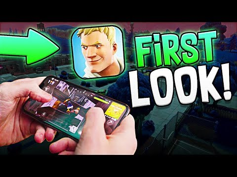 Fortnite Battle Royale Mobile!! - FIRST LOOK?! - HOW IT WILL PLAY?