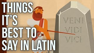Latin is a language beautifully suited to expressing certain ideas with concision and grace. Here are seven phrases that sound better in the original Latin than in any other language.  If you like our films, take a look at our shop (we ship worldwide): https://goo.gl/QQrhuDJoin our mailing list: http://bit.ly/2e0TQNJ Or visit us in person at our London HQ https://goo.gl/JnLsm4  FURTHER READING  You can read more on this and other subjects on our blog, here: https://goo.gl/VinSq7 MORE SCHOOL OF LIFE Our website has classes, articles and products to help you think and grow: https://goo.gl/8YYhFe Watch more films on SELF in our playlist: http://bit.ly/TSOLself You can submit translations and transcripts on all of our videos here: https://www.youtube.com/timedtext_cs_panel?c=UC7IcJI8PUf5Z3zKxnZvTBog&tab=2 Find out how more here: https://support.google.com/youtube/answer/6054623?hl=en-GB   SOCIAL MEDIA Feel free to follow us at the links below: Facebook: https://www.facebook.com/theschooloflifelondon/  Twitter: https://twitter.com/TheSchoolOfLife   Instagram: https://www.instagram.com/theschooloflifelondon/   CREDITS Produced in collaboration with: Vale Creative Ltdhttp://www.valeproductions.co.uk/