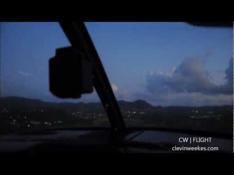 Flying in The Virgin Islands (St Croix to St Thomas)