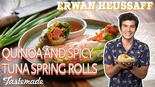 Quinoa and Spicy Tuna Fresh Spring Rolls | Erwan Heussaff by Tastemade