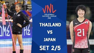 SET2 : THAILAND VS JAPAN | Volleyball Nations League 2018