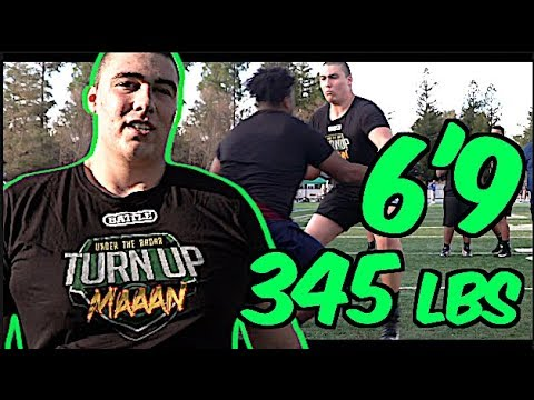 6'9 345 Pound OT | WOW ! Kid is a BEAST !! | Gerad Christian-Lichtenhan '20 | Davis H.S (CA видео