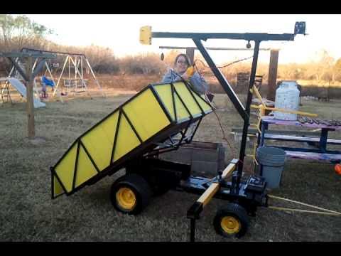 Trailers home made dump trailer homemade skidding winch part 1