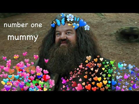 Hagrid being a mummy