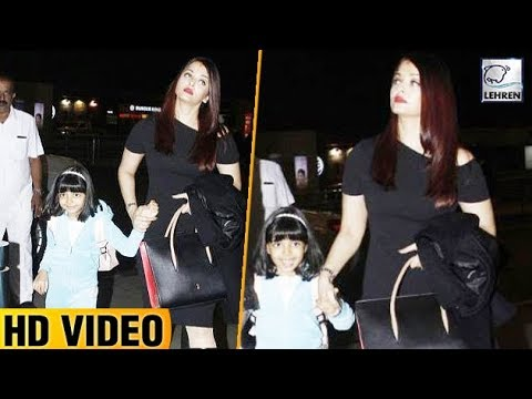 Aaradhya Bachchan Cutely Poses With Aishwarya And