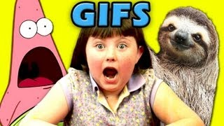 Video KIDS REACT TO GIFs! (Surprised Patrick, Sloths, Deal With It) MP3, 3GP, MP4, WEBM, AVI, FLV Maret 2018
