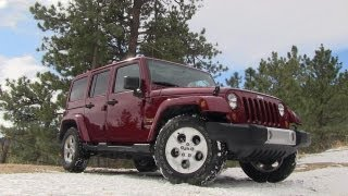 2013 Jeep Wrangler Sahara 0-60 MPH On Road Review: Jeep Week Video # 2
