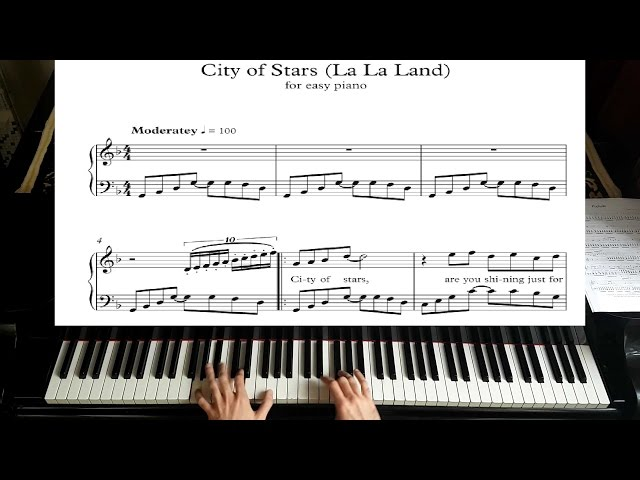 city of stars la la land piano tutorial plus sheet. Black Bedroom Furniture Sets. Home Design Ideas