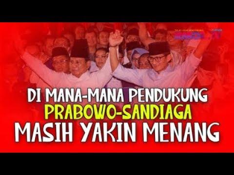 Di Mana-mana Pendukung Prabowo-Sandi Masih Yakin Menang