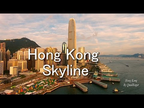 Hong Kong Skyline From Different Quadcopter Viewpoints