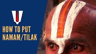 How to put a Namam?, Vaishnavites of Tamilnadu