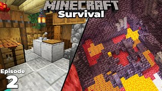 Minecraft 1.16 Survival : Ep 2 : Interior decoration and Nether Bastion Exploring! Let's play