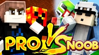 TWO PROS VS TWO NOOBS! (MINECRAFT TNT WARS)