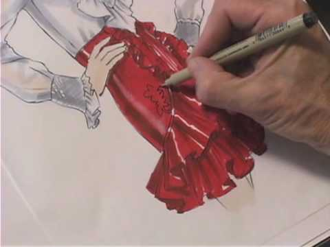 How to Draw cloths clothes and fabric – White Blouse, Transparent Blouse, Ruffled Skirt