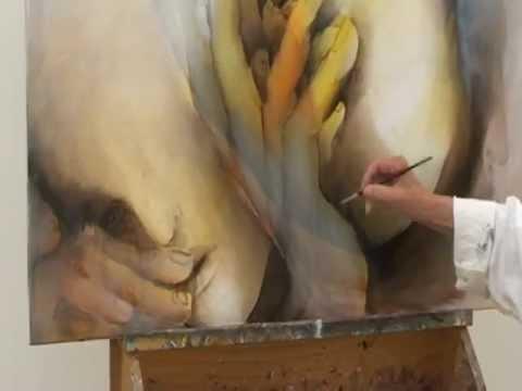 Malen mit Ölfarben – Gabriele Schmitz Reum über die Schulter geschaut
