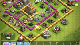 Clash Of Clans - Very Very Bad Defence Setup