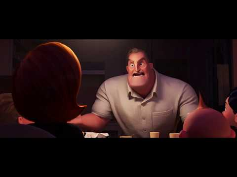 Incredibles 2 (2018) - Dinner Scene (2/10) | Cartoon Clips