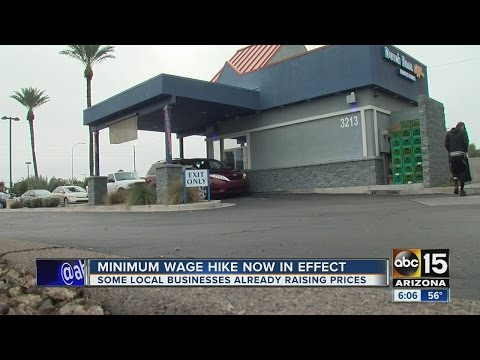 Arizonans already feeling effects of minimum wage hike