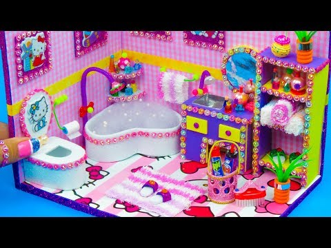 DIY Miniature Hello Kitty Bathroom