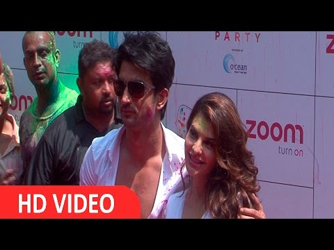 Jacqueline Fernandez & Sushant Singh Rajput At Zoom Holi Party