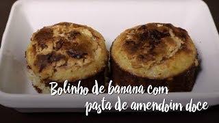 Experimente - Bolinho de banana com pasta de amendoim doce