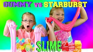Magic Box Toys Collector presents: Gummy vs Starburst Candy Slime Challenge! This is our first time making a candy slime. We have seen other YouTuber's making Gummy vs Marshmallow Slime Challenge so we decided to try Starburst Candy instead. Wow, what an experience that have been !  Please tell us which slime looks better, stretches better and in your opinion taste better? Who do you think won this challenge? Please post your comments below and enjoy the show!Thank you again for visiting and please don't forget to share this video with your friends and family : )SUBSCRIBE BUTTON:http://www.youtube.com/c/MagicBoxToysCollectorSurpriseToysSurpriseEggsPlayDohOrbeezHere are our other videos:SHOPKINS SURPRISE EGGS Shopkins Season 4 Sweet Spot Gumball Machinehttps://youtu.be/8zMECGvTPbYBIGGEST SURPRISE EGG Ever! Surprise Toys Eggs Shopkins My Little Pony Doc McStuffins Palace Petshttps://youtu.be/FNLljRlyyvoSURPRISE TOYS GIANT BALLOON POP GIVEAWAY WINNERS ANNOUNCEMENThttps://youtu.be/f02dWmqYwnkBABY ALIVE Snackin' Lily Baby Doll Eats Play-Doh Baby Alive Doll Picnic Brushy Brushy Baby Dollhttps://youtu.be/uxG9NP66IZEDOC McSTUFFINS Pet Vet New Toys Make Me Better Playset Hallie Gets a Color Changing Casthttps://youtu.be/qZ187FqMQWMSHOPKINS SEASON 4 12-Pack Shopkins Season 4 5-Pack Shopkins Season 4 Blind Basketshttps://youtu.be/tIGh0q2fCnkSOFIA THE FIRST Royal Family New Outfits SOFIA THE FIRST Royal Carriage * Carrosse Royalhttps://youtu.be/p9g67lam550MY LIFE AS a School Girl Doll * My Life as a Pop Star Play Set and Accesorieshttps://youtu.be/vPmz1Qfk5QILalaloopsy Girls Candle Slice O'Cake Frosting Dough Decorating Craft Doll * Style'N'Swap Dollhttps://youtu.be/HJTSlOpV6q4BABY ALIVE Better Now Baby Doll Goes to the Doctorhttps://youtu.be/__Bqnt72rU8MY LITTLE PONY POP FLUTTERSHY COTTAGE  My Little Pony RARITY DRESS SHOPhttps://youtu.be/BU3mhXRd0GESOFIA THE FIRST SURPRISE BACKPACK Sofia the First Shopkins My Little Pony Frozen Palace Petshttps://youtu.be/ZYytCIL9b4kBARBIE OR