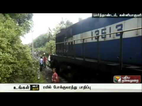 Rail-traffic-affected-as-tree-falls-over-electric-post-along-the-railway-line-at-Marthandam