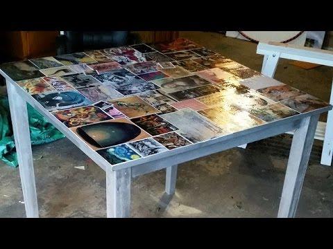 come rinnovare un vecchio tavolo col decoupage e i fumetti
