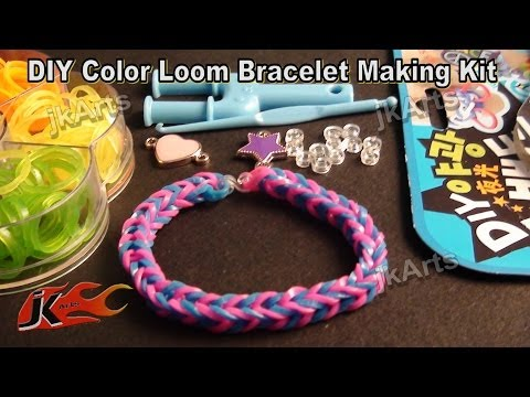 DIY Loom Band Kit Rubber band bracelet making kit and How to use – JK Arts 313