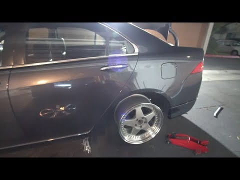 Installing Aspec Lip Kit and Test Fitting New Wheels on the TSX
