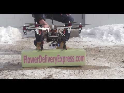 Valentine's Flower Delivery by Drone Courtesy of FlowerDeliveryExpress.com