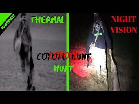 Atn And Pulsar Thermal Scanners On A Coyote Hunt At Night