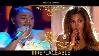 Video Irreplaceable - Queen Beyonce Feat. Princess Maria Indonesian Idol  (Live) MP3, 3GP, MP4, WEBM, AVI, FLV Maret 2018