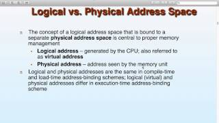 Operating Systems - Lecture 11