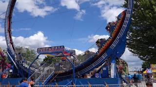Take a ride on  the Fireball carnival ride at Prairie Fest 2017