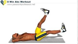 أقوى تمارين تقسيم عضلات البطن بالفيديو