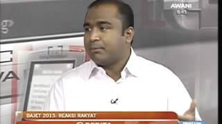 Bajet 2013 - Reaksi Shahabudeen Jalil Dan Rakyat Terutama Orang Muda